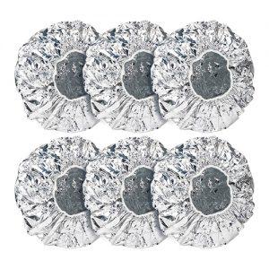 6 piezas de tapas de papel de aluminio