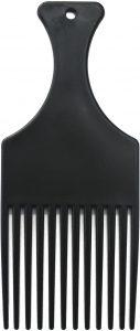 Peine de plastico para pelo afro